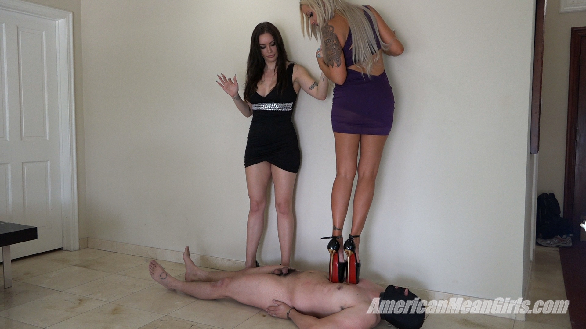 Amazon feet slave and blonde brutal gang 10